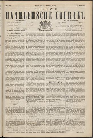 Nieuwe Haarlemsche Courant 1882-11-16