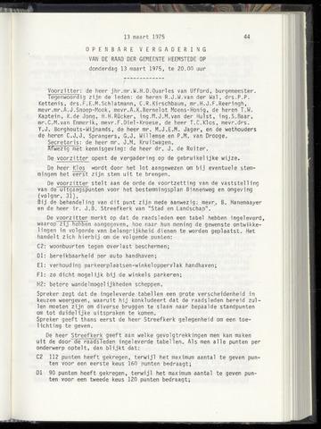 Raadsnotulen Heemstede 1975-03-13