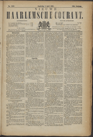 Nieuwe Haarlemsche Courant 1891-04-02