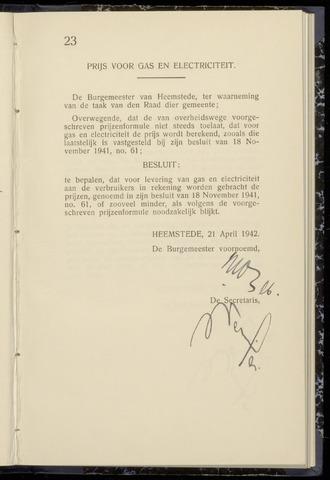 Raadsnotulen Heemstede 1942-04-21