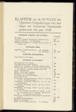 Raadsnotulen Heemstede 1938