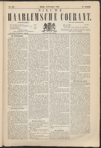 Nieuwe Haarlemsche Courant 1884-12-14