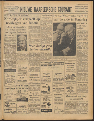 Nieuwe Haarlemsche Courant 1963-04-26