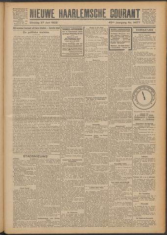 Nieuwe Haarlemsche Courant 1922-06-27