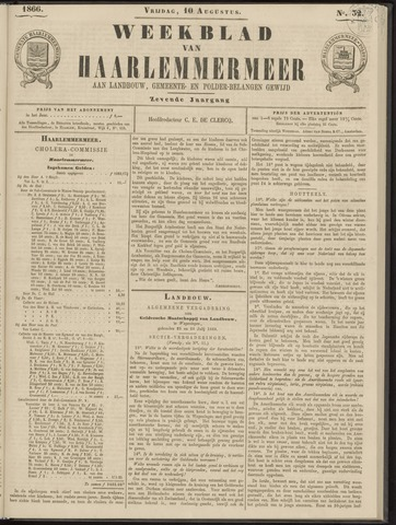 Weekblad van Haarlemmermeer 1866-08-10