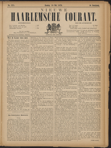 Nieuwe Haarlemsche Courant 1879-05-18