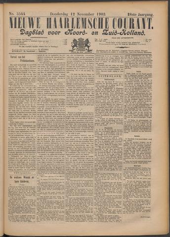 Nieuwe Haarlemsche Courant 1903-11-12