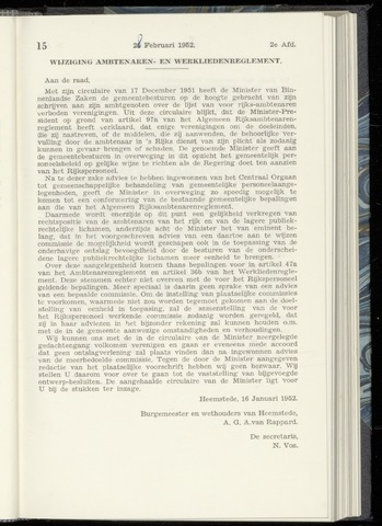 Raadsnotulen Heemstede 1952-02-28