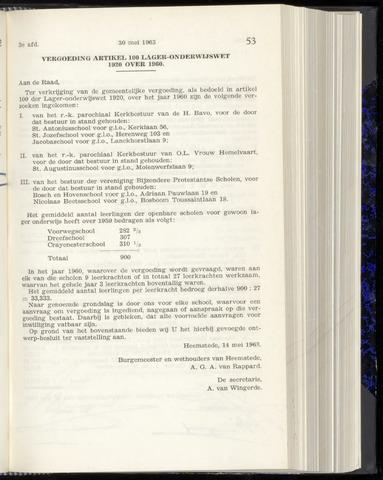 Raadsnotulen Heemstede 1963-05-30