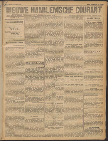 Nieuwe Haarlemsche Courant 1919-10-27