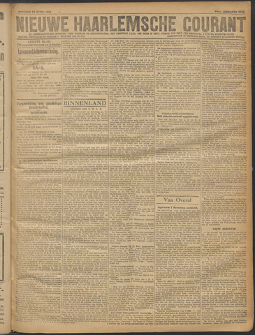 Nieuwe Haarlemsche Courant 1919-04-22