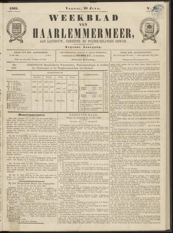 Weekblad van Haarlemmermeer 1868-06-26