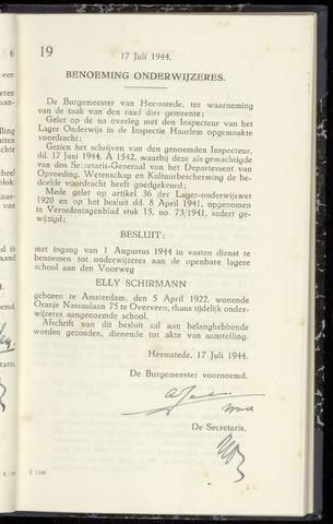 Raadsnotulen Heemstede 1944-07-17