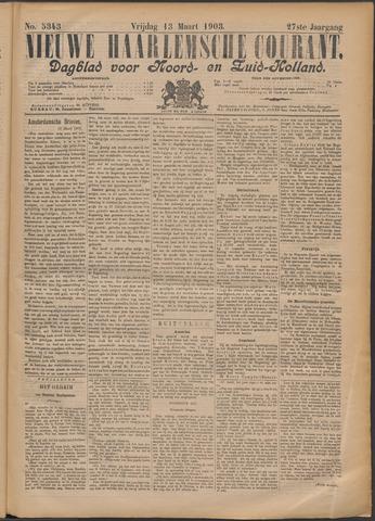 Nieuwe Haarlemsche Courant 1903-03-13
