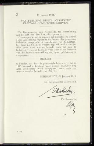 Raadsnotulen Heemstede 1944-01-21