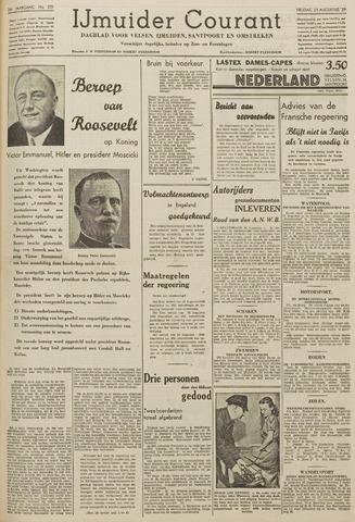 IJmuider Courant 1939-08-25