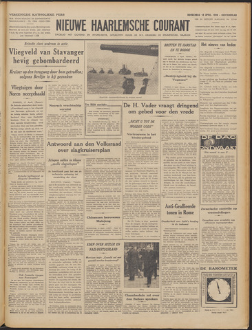Nieuwe Haarlemsche Courant 1940-04-18