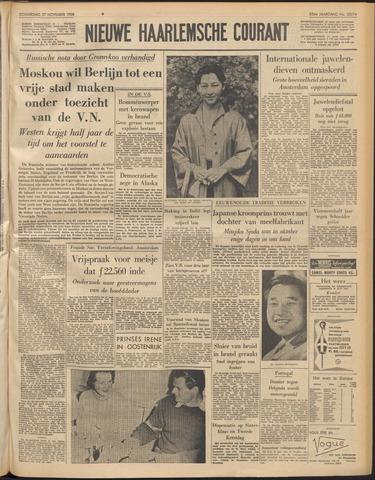 Nieuwe Haarlemsche Courant 1958-11-27