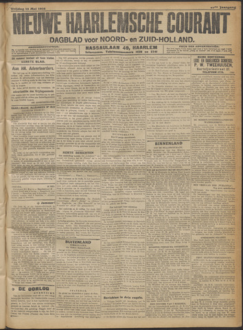 Nieuwe Haarlemsche Courant 1916-05-19