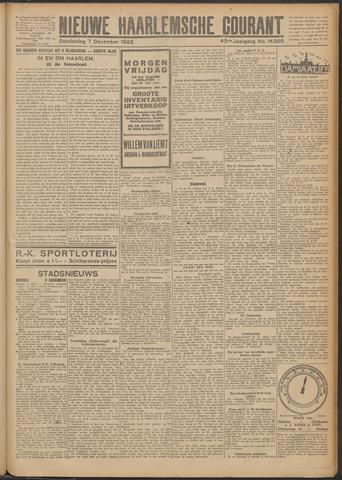 Nieuwe Haarlemsche Courant 1922-12-07