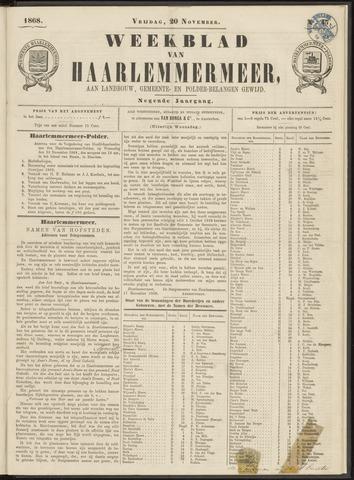 Weekblad van Haarlemmermeer 1868-11-20