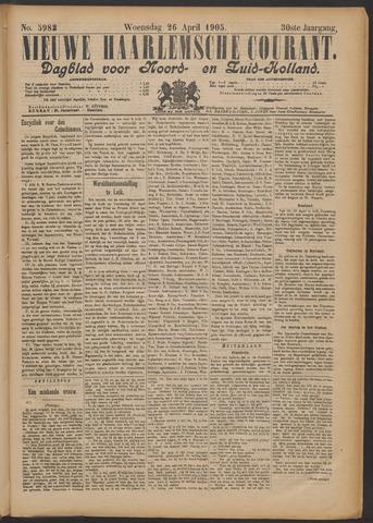 Nieuwe Haarlemsche Courant 1905-04-26