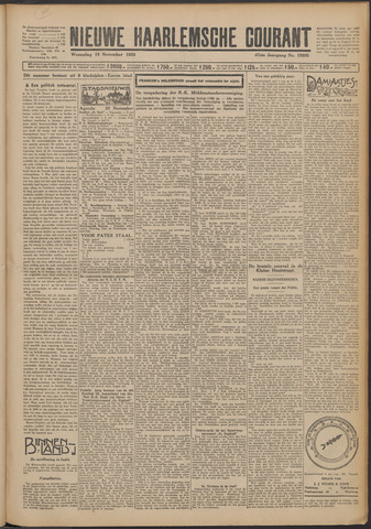 Nieuwe Haarlemsche Courant 1924-11-19
