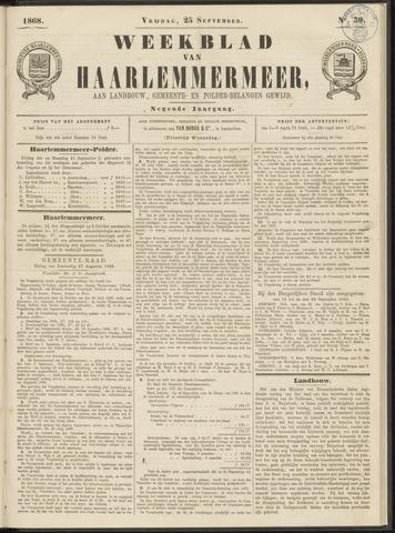 Weekblad van Haarlemmermeer 1868-09-25