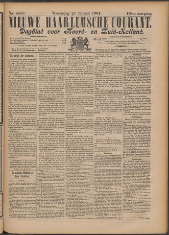 Nieuwe Haarlemsche Courant 1904-01-27