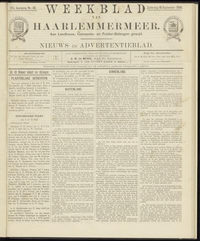 Weekblad van Haarlemmermeer 1886-09-18