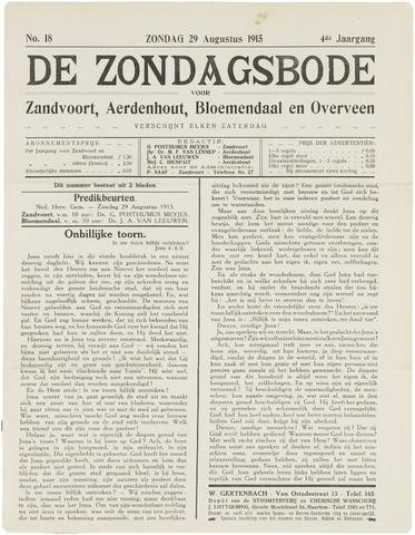 De Zondagsbode voor Zandvoort en Aerdenhout 1915-08-29