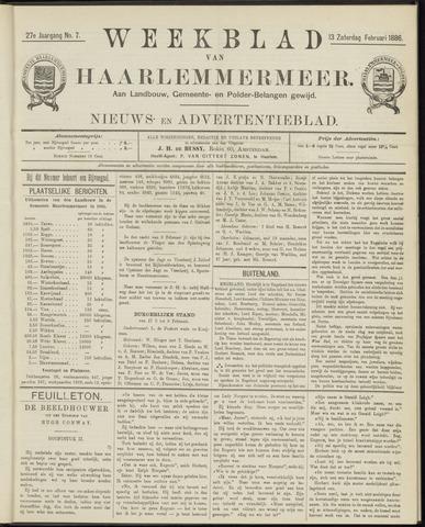 Weekblad van Haarlemmermeer 1886-02-13