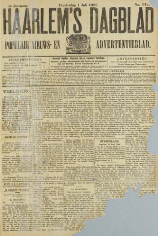Haarlem's Dagblad 1886