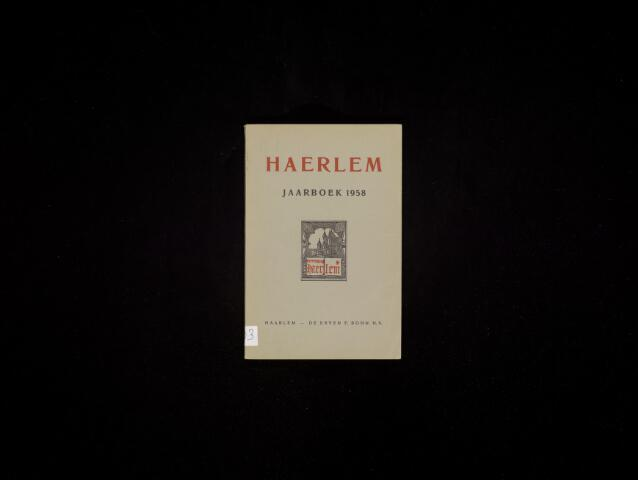 Jaarverslagen en Jaarboeken Vereniging Haerlem 1958