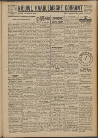 Nieuwe Haarlemsche Courant 1922-08-11