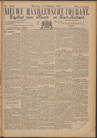Nieuwe Haarlemsche Courant 1905-02-25