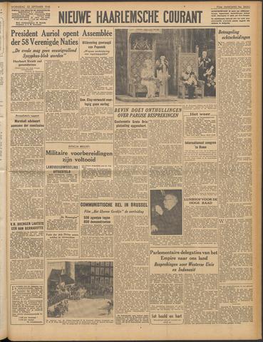 Nieuwe Haarlemsche Courant 1948-09-22