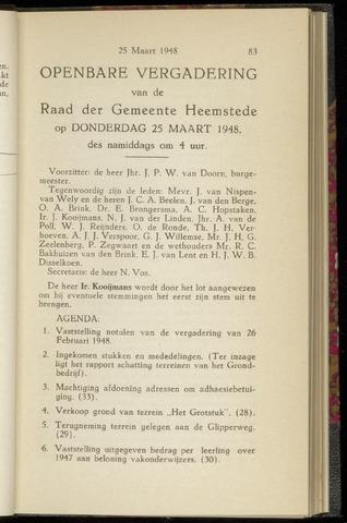 Raadsnotulen Heemstede 1948-03-25