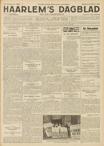 Haarlem's Dagblad 1935-02-25