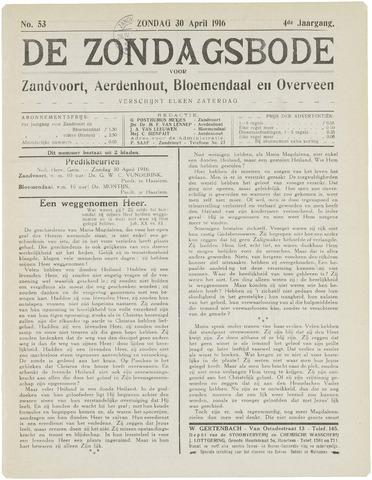 De Zondagsbode voor Zandvoort en Aerdenhout 1916-04-30
