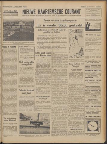 Nieuwe Haarlemsche Courant 1940-03-13
