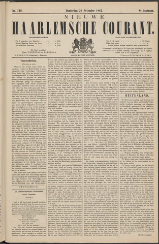 Nieuwe Haarlemsche Courant 1883-11-29