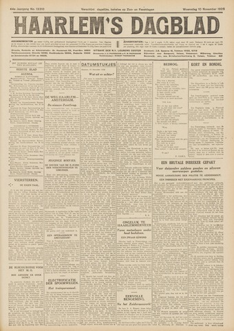 Haarlem's Dagblad 1926-11-10