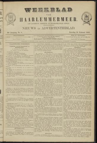 Weekblad van Haarlemmermeer 1885-02-21