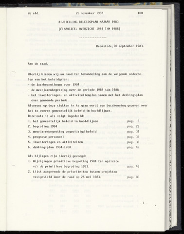 Raadsnotulen Heemstede 1983-11-25