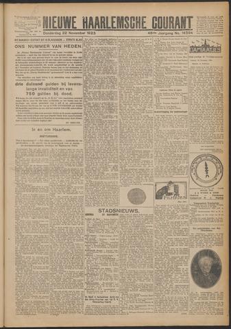 Nieuwe Haarlemsche Courant 1923-11-22