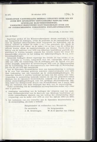 Raadsnotulen Heemstede 1972-10-26