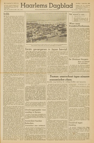 Haarlem's Dagblad 1945-09-01