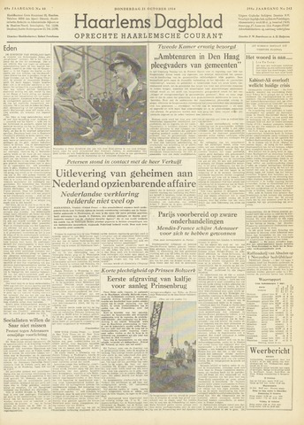 Haarlem's Dagblad 1954-10-21