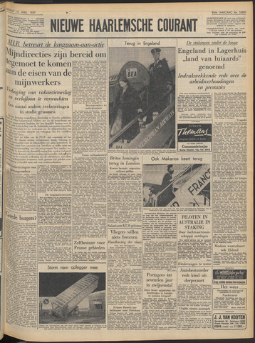 Nieuwe Haarlemsche Courant 1957-04-12